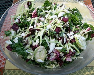 Sweet Kale Salad by Womad 2014 guest Makana from Hawaii