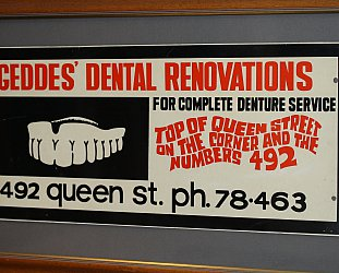 Pat McMinn: Geddes Dental Renovations advertisement (1949)