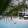The central pool from a second floor room (with private spa) at Peppers Beach Club in Port Douglas, northern Queensland, Australia. That man didn't move for 20 minutes. I know, I didn't move from my lounger while watching him.