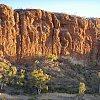 View from my doorway at Glen Helen west of Alice Springs