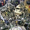 A small part of the collection of toy soldiers in a