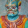 One of the guardians in the Ten Courts of Hell at Haw Par Villa in Singapore.