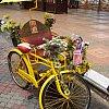 Tourist taxi-cum-cyclo in Melaka, Malaysia.