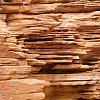 Striated rock some 600 million years old, near Glen Helen west of Alice Springs