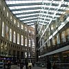 Interior/exterior of the exceptional public library in Vancouver, Canada. Designed by Israel-born, Montreal-raised, Boston-resident  Moshe Safdie, it resembles an unpeeling Colosseum. Safdie is a Louis Kahn apprentice . . . and a genius.