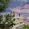 A man in absolute Elsewhere, at the Grand Canyon.