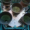 Engines on a Saturn rocket, Kennedy Space Center.