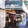 John's Grill in San Francisco where Sam Spade ate chops with baked potato and sliced tomatoes in The Maltese Falcon. Patrons have included Lauren Bacall, Jimmy Carter, George Lucas and others. No one famous when I had a decent if pricey steak.