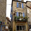 Window boxes and picture perfect cuteness in Martel in the Dordogne, central France.