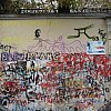 Fans have their say at the former home of France's Serge Gainsbourg in Paris.