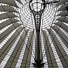 Inside the Sony Centre at Potsdamer Platz, Berlin.