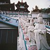 A temple with thousands of bodhisattva figures, in Taiching, Taiwan