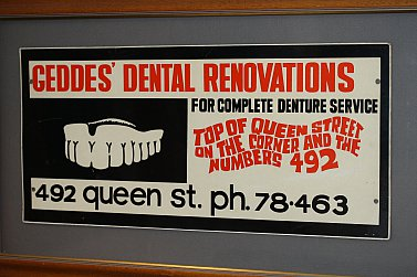 Pat McMinn: Geddes Dental Renovations advertisement (1949)