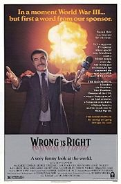 POLITICS AND PARODY, SEAN CONNERY IN WRONG IS RIGHT (1982): Today's news yesterday