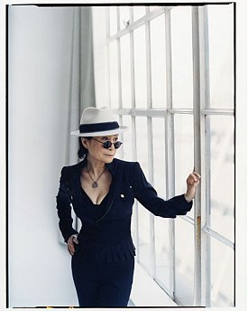 YOKO ONO INTERVIEWED, THE TOURING LENNON ART EXHIBITION (1997) In his own draw